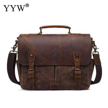 High Quality Men Crazy Horse Leather Vintage Crossbody Bag Hotsale Soft  Messenger Bag Male Shoulder Fashion Genuine Leather - DISCOUNT ITEM  30% OFF All Category