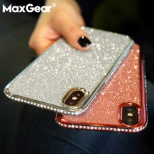 Glitter Bling Diamond Case For Huawei Honor 7X 8X Max Y7 Prime Y9 2018 2019 Honor 10 Lite P Smart Plus Nova 3 3i Soft Cover(China)