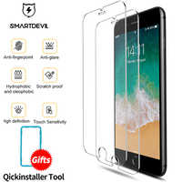 SmartDevil screen protector for iphone X Xs Max Xr 2.5D Curved Tempered Glass for iphone 6 6s Plus 7 Plus 8Plus Screen Protector