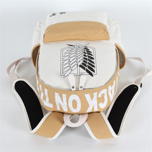 Attack on Titan Book Bag White Brown Color Mixed Backpack (6 colors)