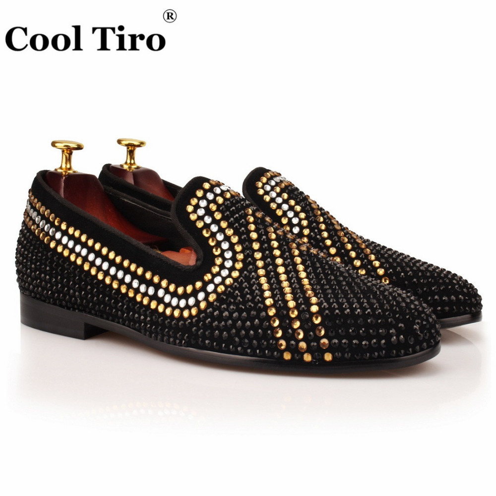 COOL TIRO Handmade Gold/white/black Diamonds Men