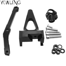 Motorcycle Accessories Adjustable Steering Stabilize Damper Bracket Mounting kit Fit for YAMAHA MT09 MT-09 MT 09 FZ09 2013-2017 cnc motorcycle damper steering stabilize damper bracket mounting holder kit for yamaha yzf r3 mt 03 r25