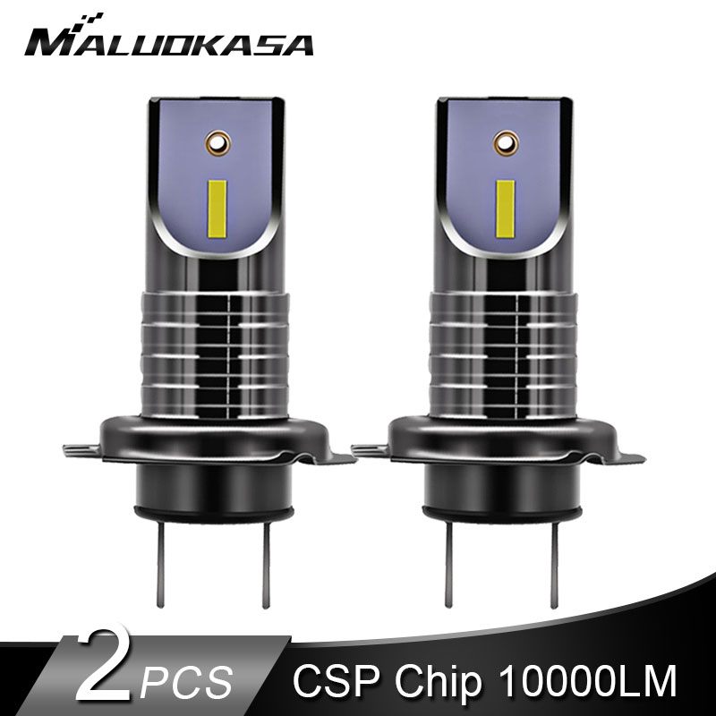 2 piezas LED H7 LED bombillas de faros H7 Canbus CSP Y1919 Chip 10000LM 25 W Mini H11 H8 HB4 Coche las luces de la línea de corte de coche 12 V 24 V estilo