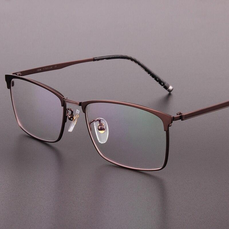 06a9d5625d5fb3 Marque véritable haut de gamme hommes lunettes cadres pure titanium plein cadre  hommes lunettes cadres boîte prescription lunettes 9922