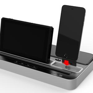 Image 3 - Base de carga multifunción Estación de enchufes, soporte con altavoz de Audio para Nintendo NS Switch/teléfono móvil/tabletas