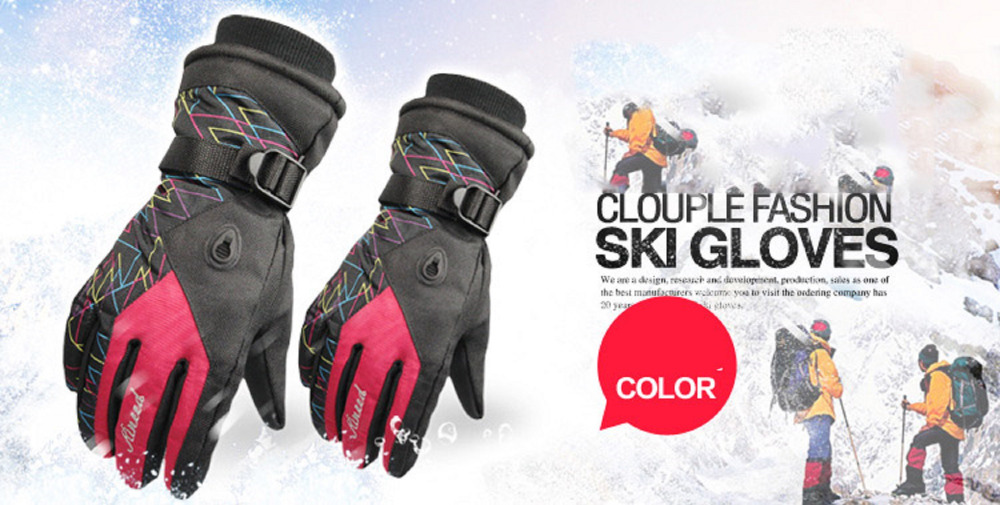 GLV800B Warm winter ski font b gloves b font prevent slippery wear resisting men and women