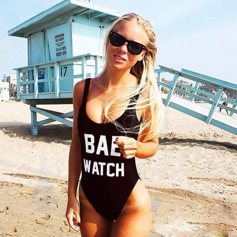 Women Sexy Backless BAE WATCH Swimsuit Bodysuit Beachwear Swimwear Bathing Suit Beachwear Swimming Costume Summer Sportswear 9colors bae watch bodysuit swimwear padded red monokini letters rompers womens jumpsuit costume sexy maillot de bain drop ship