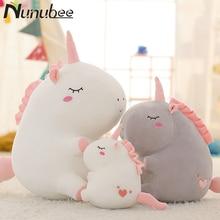 Nunubee Cute Unicorn Pillow Soft Plush Animal Cushion cojines decorativos para sofa for gift S M L
