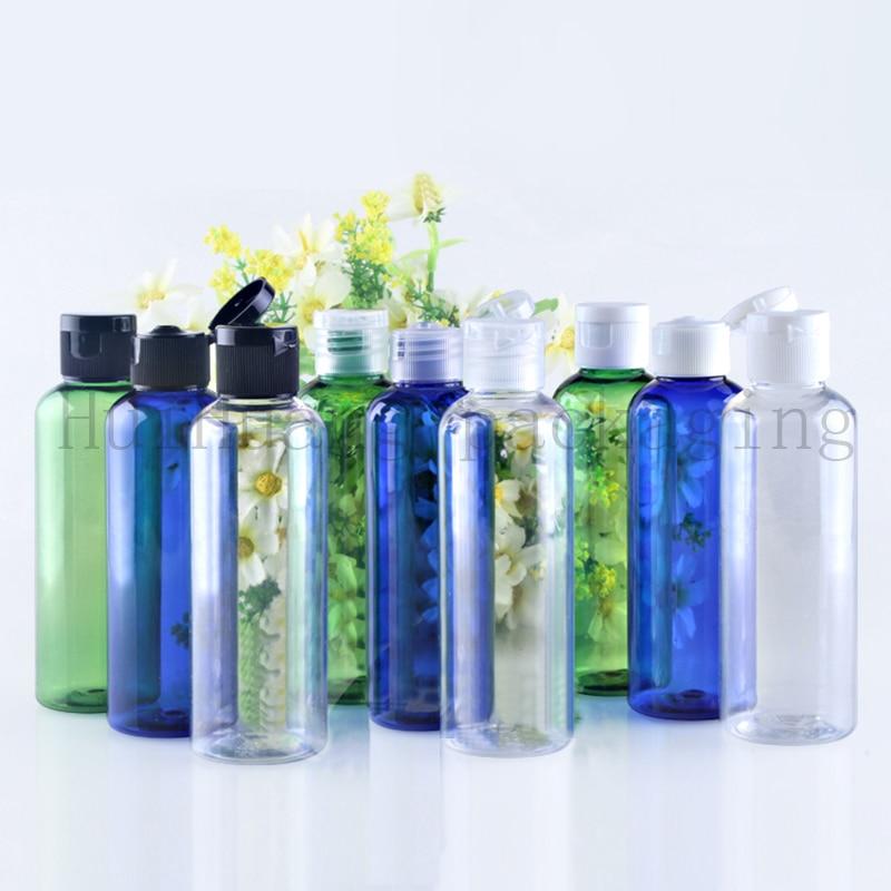 50pc 100ml empty shampoo plastic travel bottles with flip top cap refillable travel shampoo packaging PET