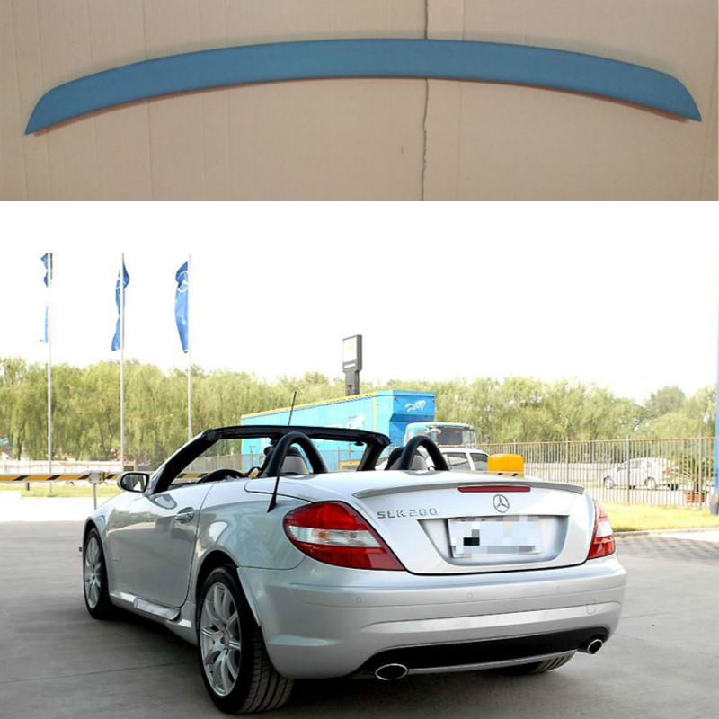 PU material Unpainted Rear Spoiler Trunk Boot Wing For Benz R171 SLK Class Convertible 2 Door 2006-2011 Car Tuning PartsPU material Unpainted Rear Spoiler Trunk Boot Wing For Benz R171 SLK Class Convertible 2 Door 2006-2011 Car Tuning Parts