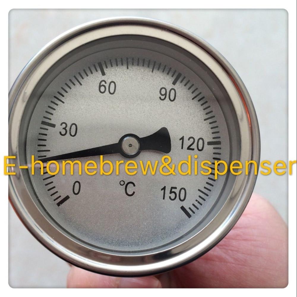 Envío gratis homebrew 58mm termómetro bimetálico sin soldadura --- - Cocina, comedor y bar