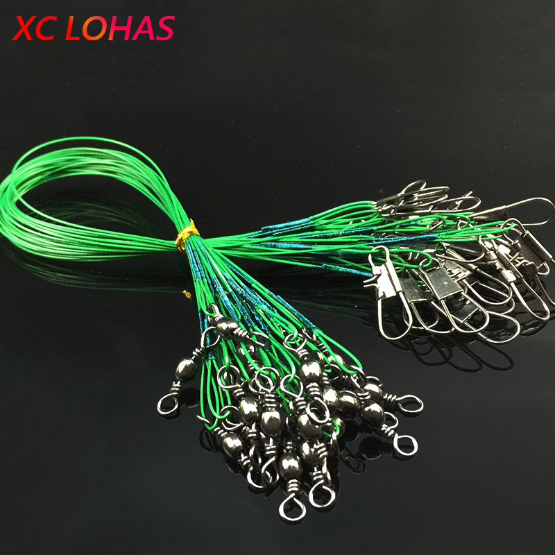 30 Pcs/Pack Fishing Tackle Lure Trace Wire 15cm 23cm 30cm Length High Carbon Stainless Steel Anti-bite Sub Fishing Line