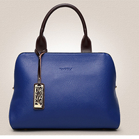 Cow Leather Purple Handbags Mom Casual High Quality Female Black Shoulder Bag Brown Tote Luxury Solid