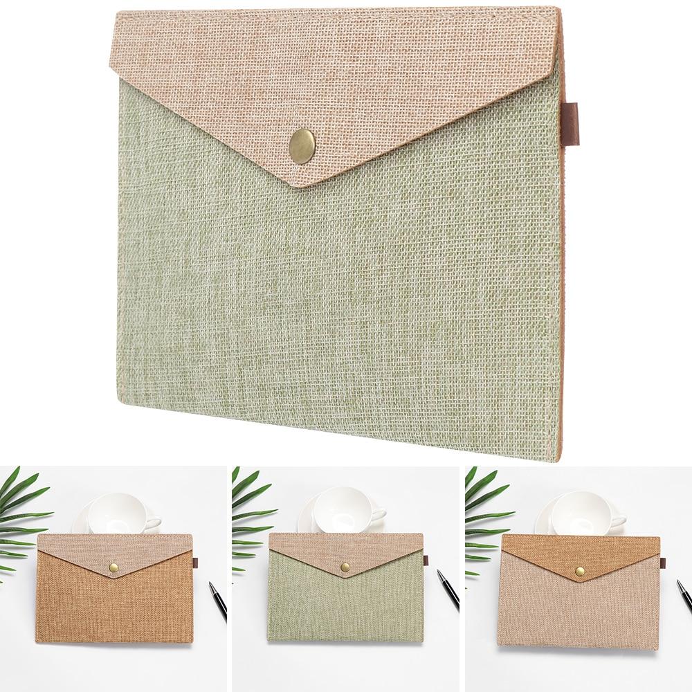 File Folders Briefcase Office-Supply Canvas Felt Big-Capacity Imitation-Linen 1PC A4/A5