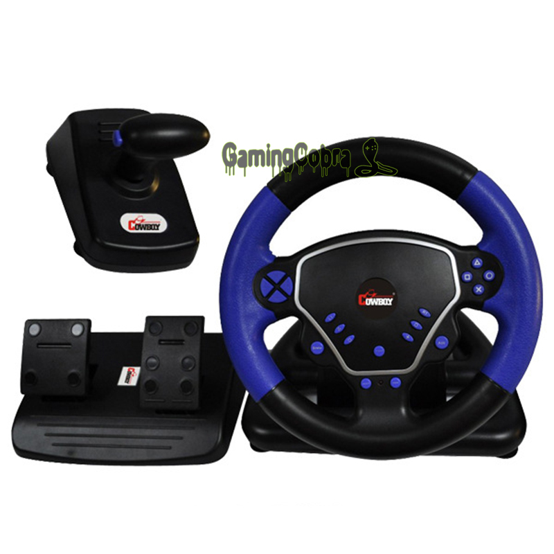 цена на Multifunction Game Gaming Controller Steering Wheel Fit For Playstation PS2/PS3