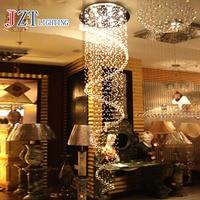 T Роскошные круговой спираль Crystal потолочное GU10 светодиодные лампы современный творческий Освещение в помещении пентхаус этаже зал Лестниц