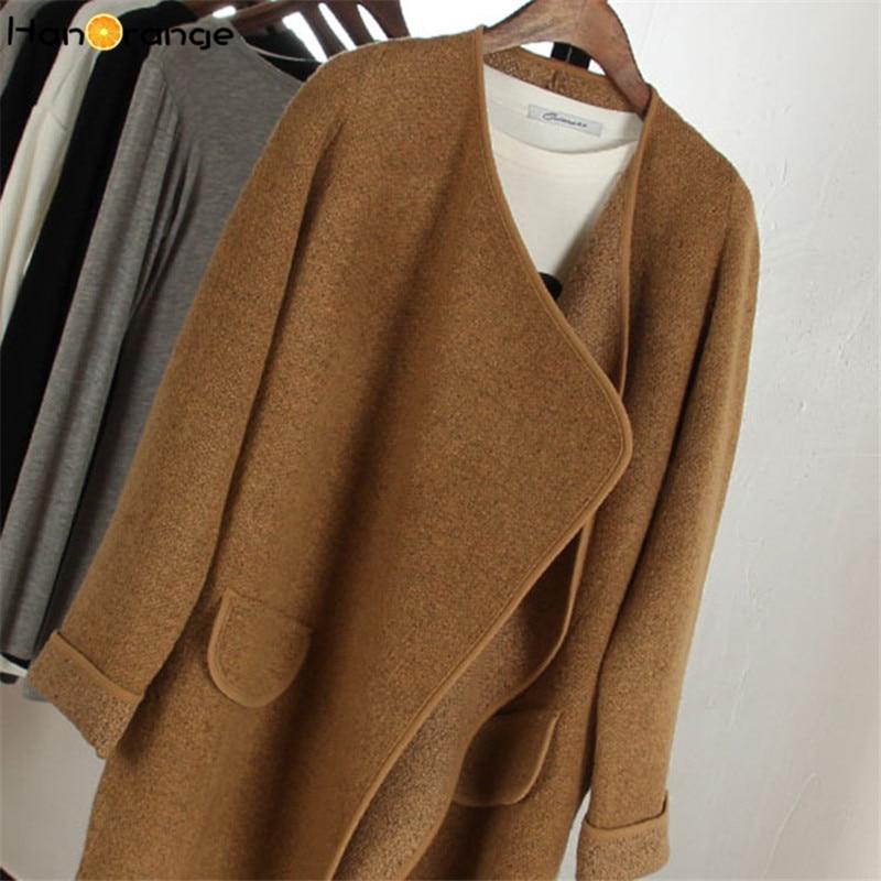 HanOrange Pocket Europe Lady Autumn Long Sleeve Women Long Sweater ...