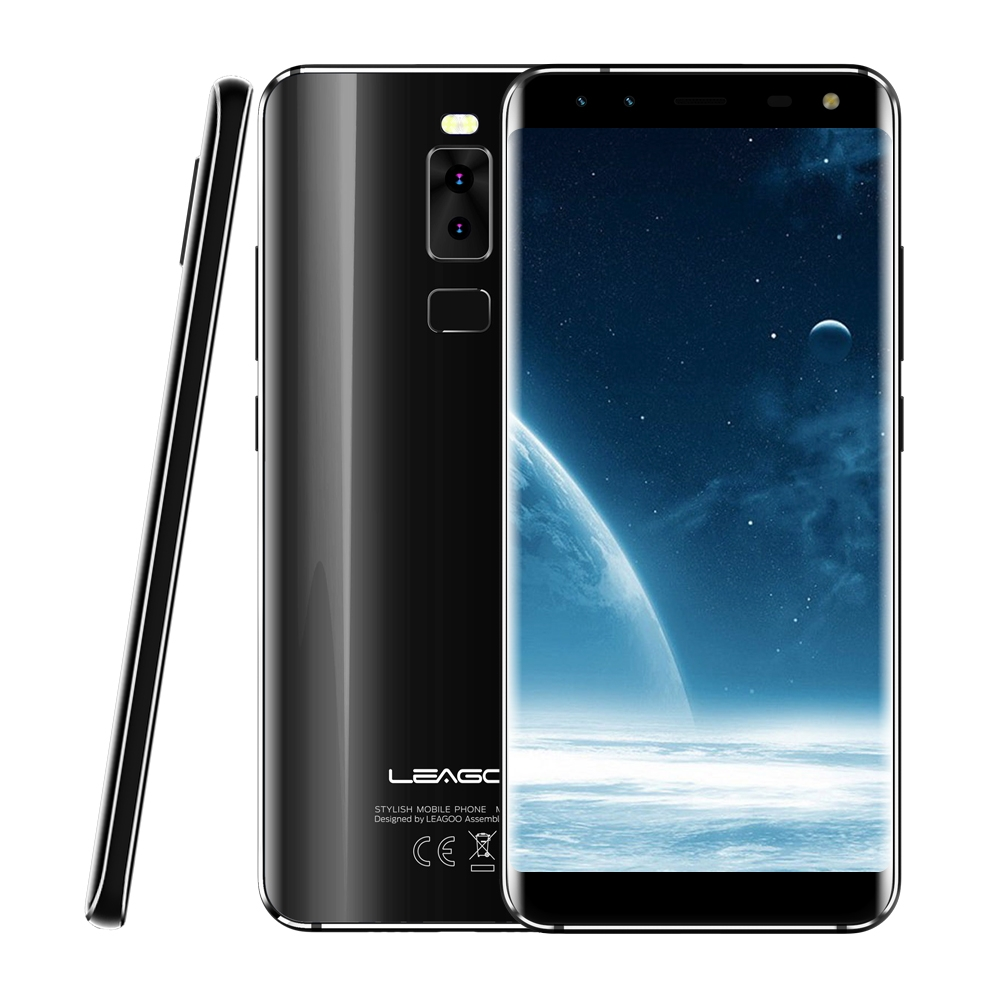 Original Leagoo S8 Mobile Phone 5.72'' MT6750T Octa Core Android 7.0 3GB RAM 32GB ROM Dual Back & Dual Front Cameras Fingerprint