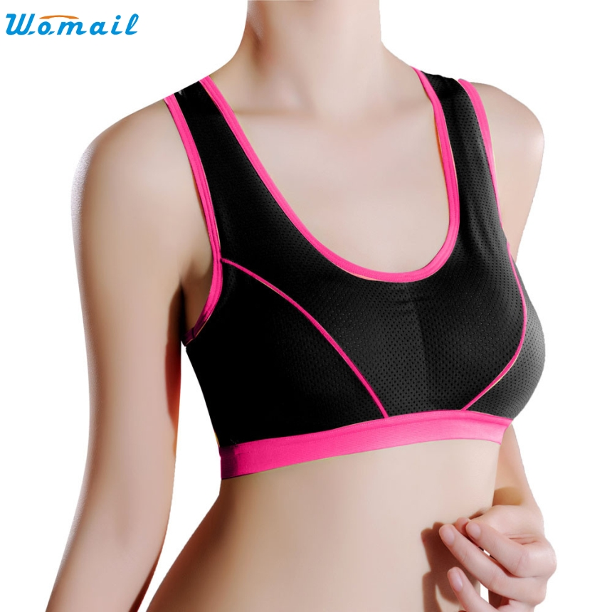 cc61cb7ab1 Premium 9 Colors Sports Bra Womens Running Yoga Vest Sports Gifts Women  Lady Sports Yoga Wrap Chest Strap Vest Tops Bra