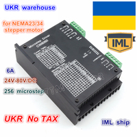 UKR free shipping CW8060 CNC Stepper motor Driver Controller 80VDC/6A /256 Microstep for CNC Router Engraving Milling
