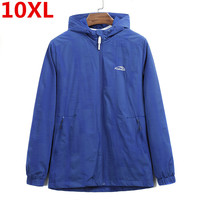 plus size 10XL Ultra Light Men's Summer Hooded Jacket Windbreaker Packable Skin Coat Sunscreen Waterproof Beach Casual Jackets