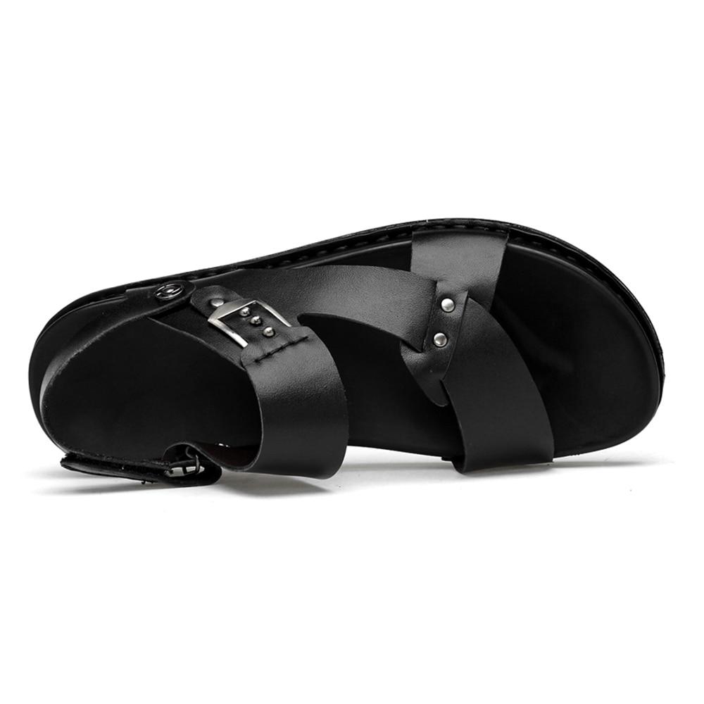 Mens Sport shoes outdoor beach sandals for men summer Cool breathable shoes man youth platform genuine leather sandals men