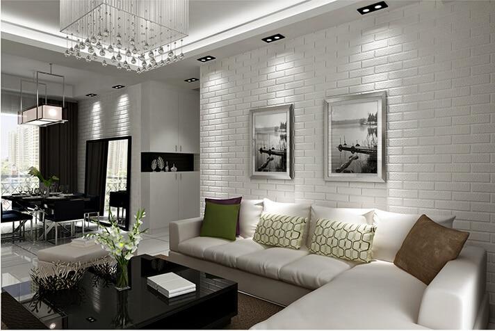Papel pared imitacion piedra pared de papel de lujo piedra pared de ladrillo vinilo wallpaper - Papel pintado ladrillo blanco ...