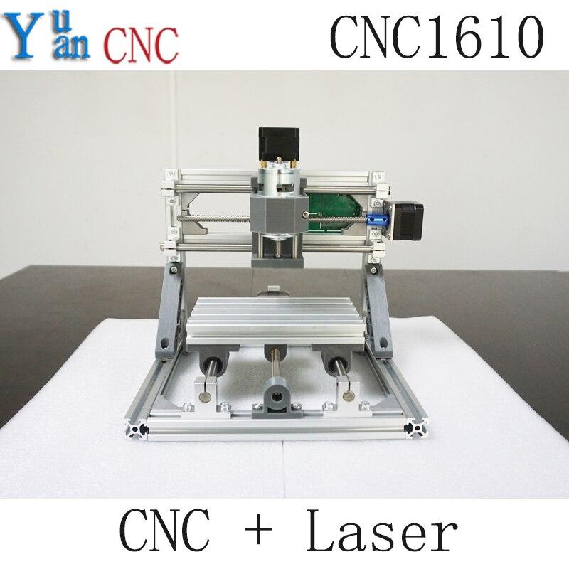 CNC 1610 GRBL contrôle bricolage CNC machine, zone de travail 16x10x4 cm, 3 axes Pcb Pvc fraiseuse, routeur en bois, graveur de sculpture