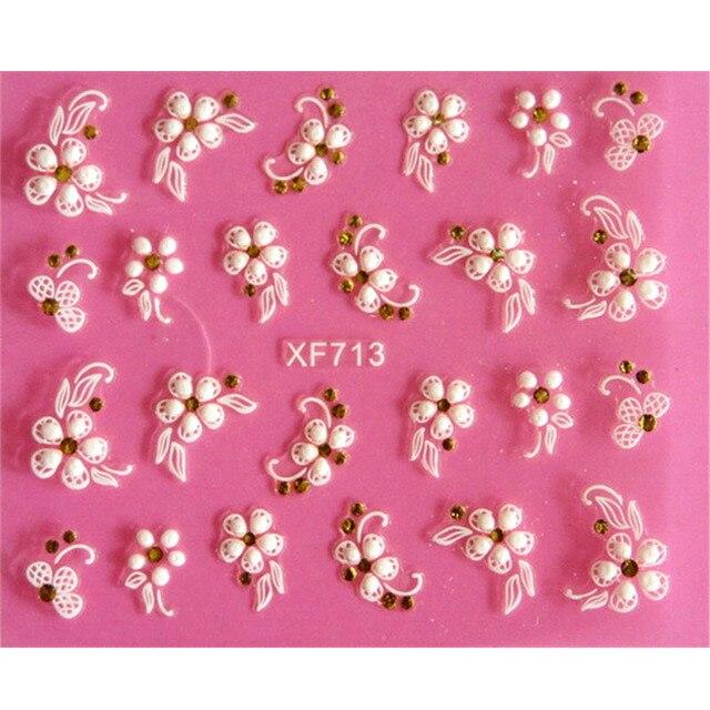 Bella 3D di disegno del fiore di Trasferimento Dellacqua Nails Art Sticker decalcomanie della ragazza delle donne di strumenti per manicure Nail Wraps Decalcomanie