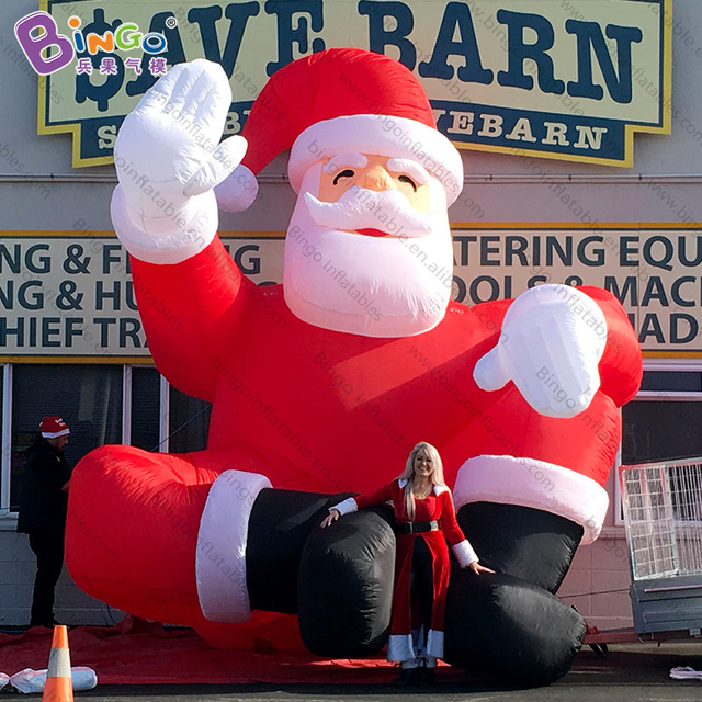 7a0a7ca735abb Personalized 16 feet high large Inflatable Santa Christmas 5m tall giant  old man inflatables for promotion toys
