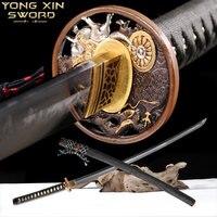 Японский самурайский меч катана меч высокое качество медные аксессуары комплект T10 Сталь обкладка глиной очевидно Хамон острое лезвие дома