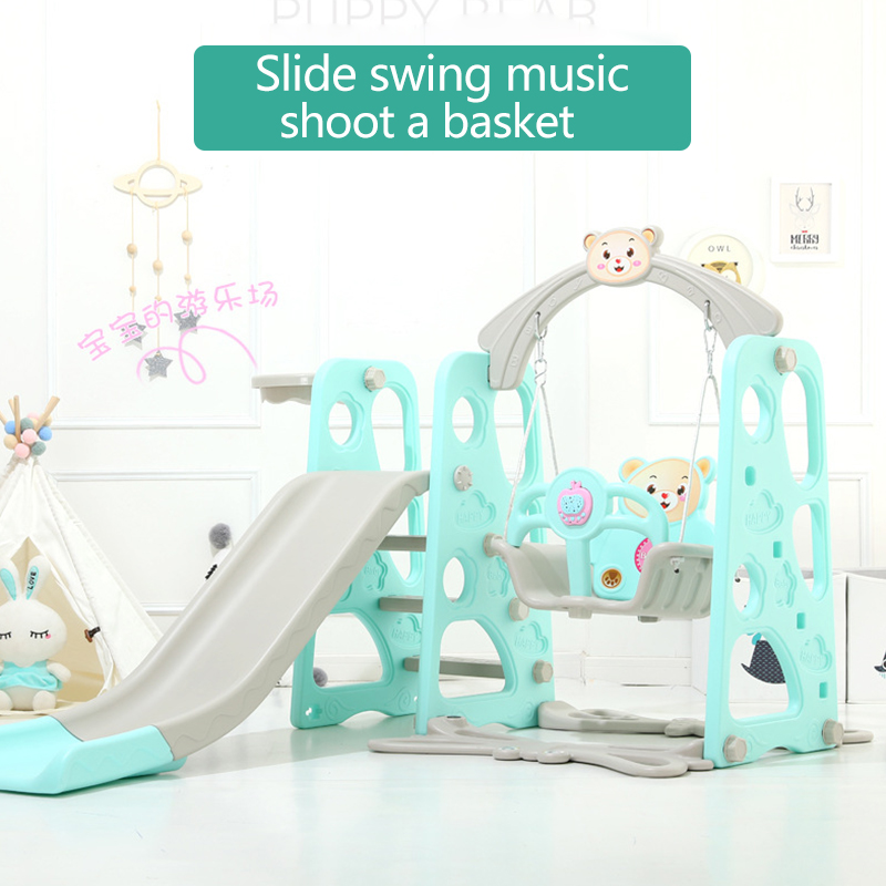 Toboggan musical combinaison enfants intérieur bébé aire de jeux petits enfants multifonctionnel jouets bébé Jumper bébé chaise berçante