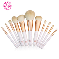 ENERGY Brand camellia 11pcs Goat Hair fashion new arrival Makeup Brushes with bag Brochas Maquillaje Pinceaux Maquillage fsc04