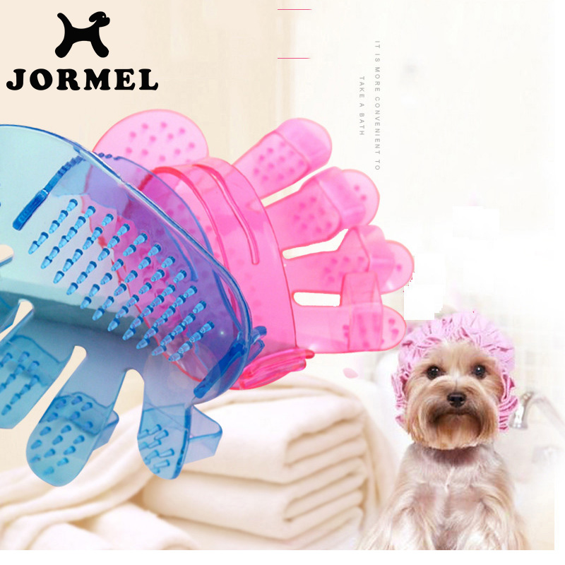 JORMEL 2018 Adjustable New Cleaning Brush <font><b>Magic</b></font> Plastic Transparent Glove <font><b>Pet</b></font> <font><b>Dog</b></font> <font><b>Cat</b></font> <font><b>Massage</b></font> <font><b>Hair</b></font> <font><b>Removal</b></font> <font><b>Grooming</b></font> Groomer