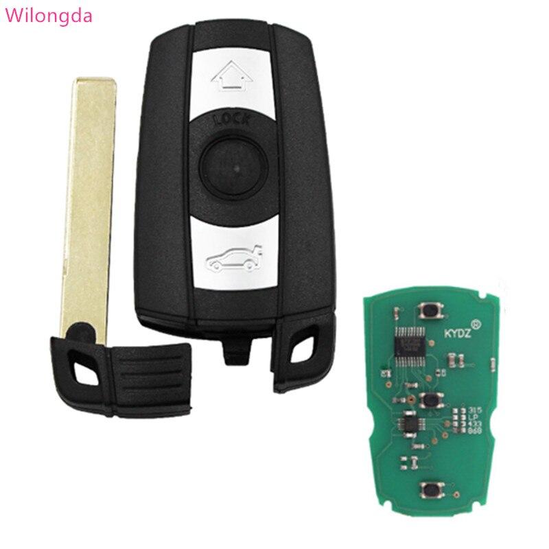 Wilongda Auto key 3 Button remote car key 868MHz pcf7945 chip car accessories for BMW E90