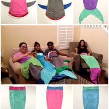 6 Дизайнов-фланелевый детский спальный мешок наивысшего качества/детский спальный мешок/спальный мешок для младенцев, одеяло с хвостом русалки акулы
