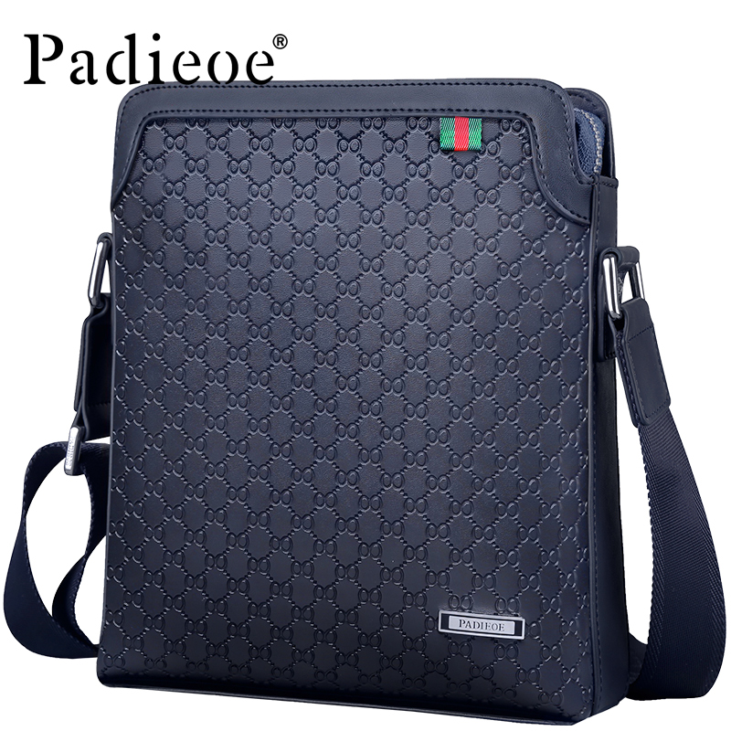 Padieoe Top Split Leather Male Bag Famous Brand Men's Travel Bag High Quality Flap Bag for Phone Casual Crossbody Bag handbag