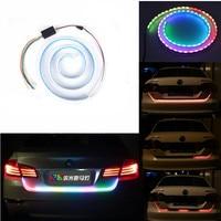 120cm 150cm Car RGB LED Multi Function Strip Brake Lamp Rear Trunk Tail Signal Lamp External