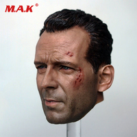 1/6 scale Die Hard John Mcclane Bruce Willis battle damage head model fit 12 body injured wounded face with blood model