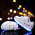 Fashion Children LED light Shoes Kids Sneakers Fashion USB Charging Luminous Lighted Boy Girl Sports Shoes chaussure LED enfant.
