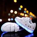 Moda luz LED niños embroma las zapatillas de deporte de moda de carga USB luminoso iluminado calzado deportivo muchacha del muchacho chaussure LED enfant