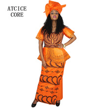 African dresses with scarf for women