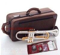 Труба Новый Посеребренная корпус золотой ключ LT180S 72 бемоль профессиональный труба bell Топ Музыкальные инструменты латунь Рог