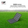Allpowers portable carregador de painel solar 5 v/18 v 100 w carregador de bateria solar para telefones inteligentes, comprimidos, Laptops, Bateria de carro etc.