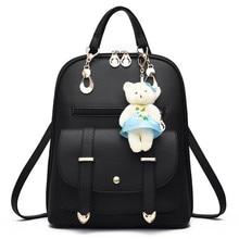 School Backpacks Vintage Casual PU Leather Travel Bags Women Bag Women Backpack Cute Girls School Bags Ladies Bag 2019 Hot Sale цены