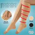 Elastic Compression Stockings Zipper Support Braces Massage Relief From Leg Swelling and Pain Prevention Cure Varicose Veins