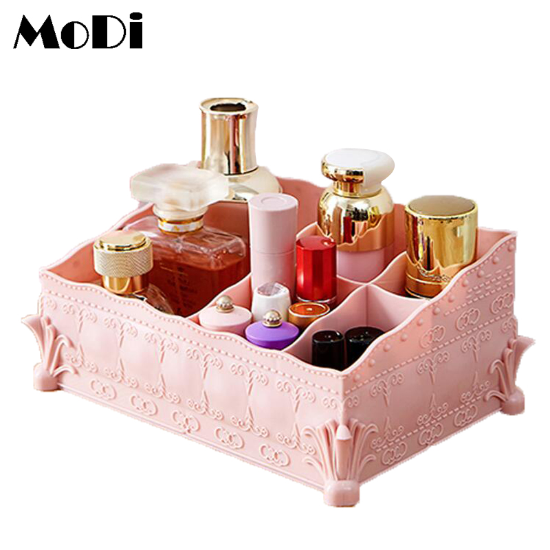 Cosmetics Storage Collection Desktop Dries Box Multi Purpose Desk Office Storage Makeup Organizer Plastic Collection Card Box