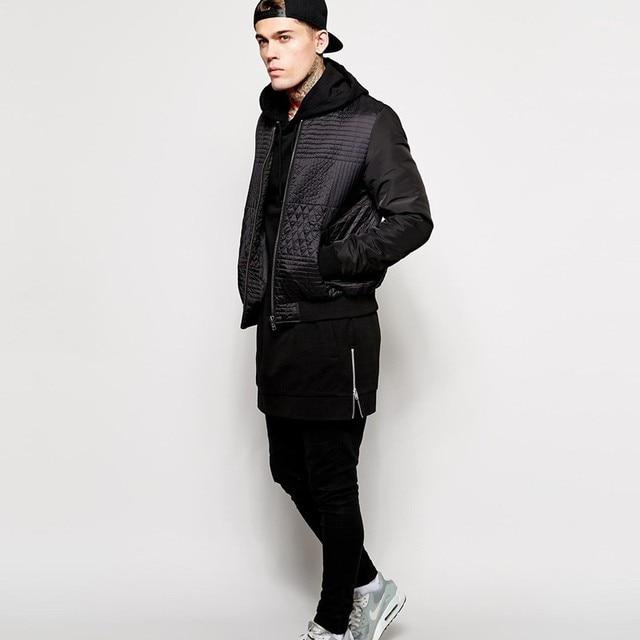 New Arrival Black Solid Fleece Hip Hop Oversize Men Hoody Longline Fashion Hoodies Sweatshirts Men Free Shipping