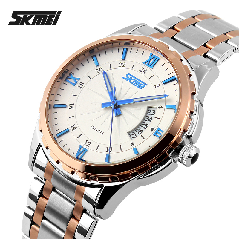 SKMEI Luminous Watches Men Luxury Brand Quartz Watch Men Full Steel Wristwatches Dive 30M Casual Watch Relogio Masculino 9069 skmei 9069 men quartz watch men full steel wristwatches dive 30m fashion sport watch relogio masculino 2016 luxury brand watches