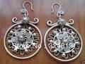 Tibet silver Jewelry Minority Miao Silver Earring Pair #2019 *l